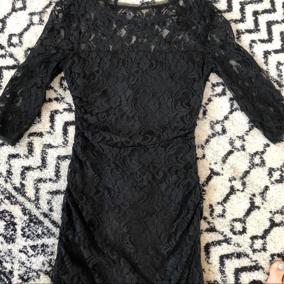 Max & Cleo Dresses & Skirts - Black lace 3/4 sleeves mini